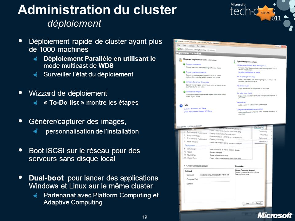 Administration du cluster déploiement