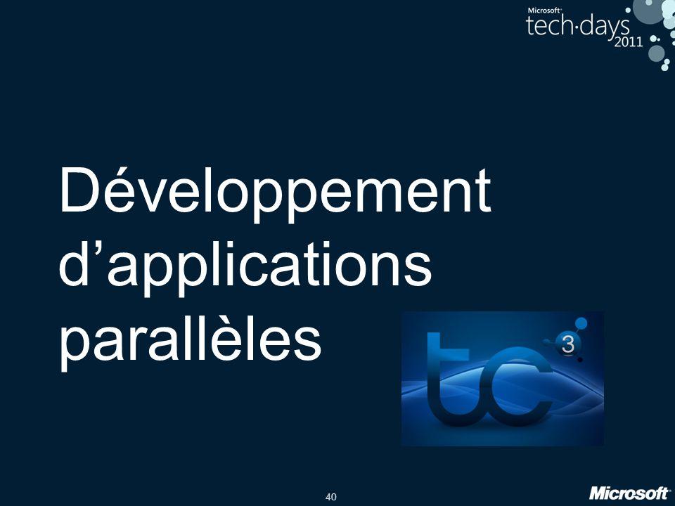 Développement d'applications parallèles