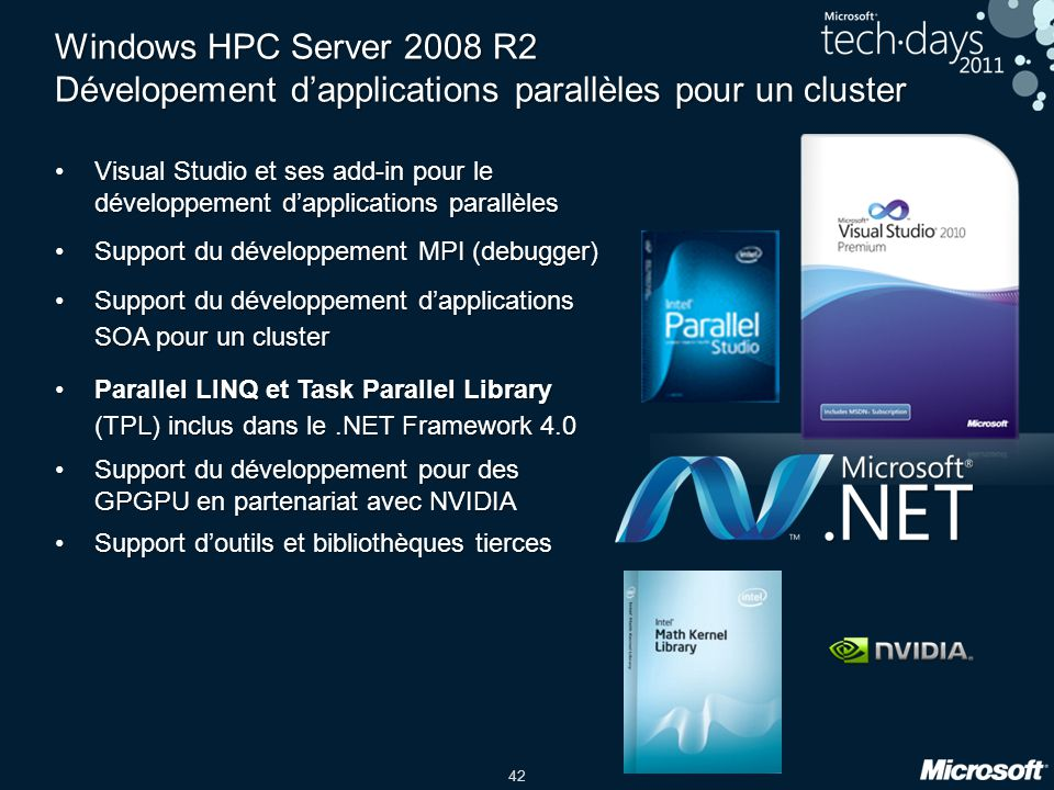 Windows HPC Server 2008 R2 Dévelopement d'applications parallèles pour un cluster