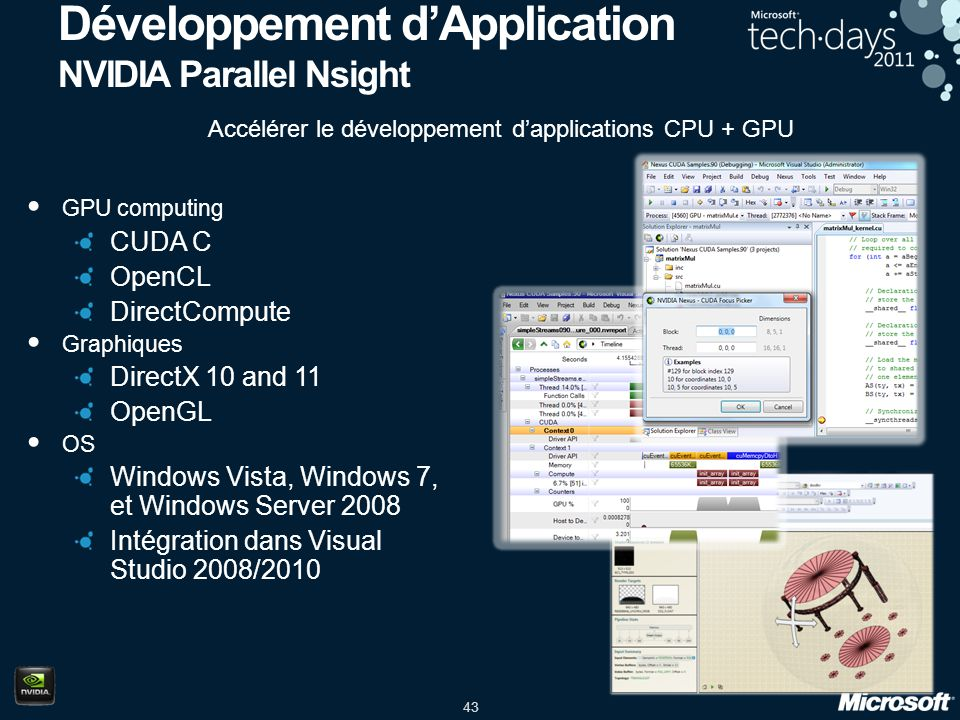 Développement d'Application NVIDIA Parallel Nsight