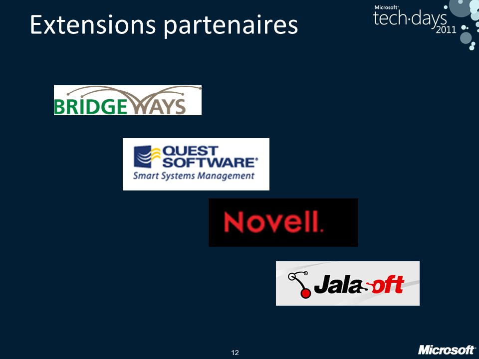 Extensions partenaires
