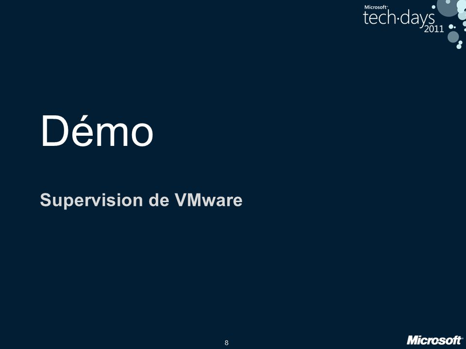 Démo Supervision de VMware