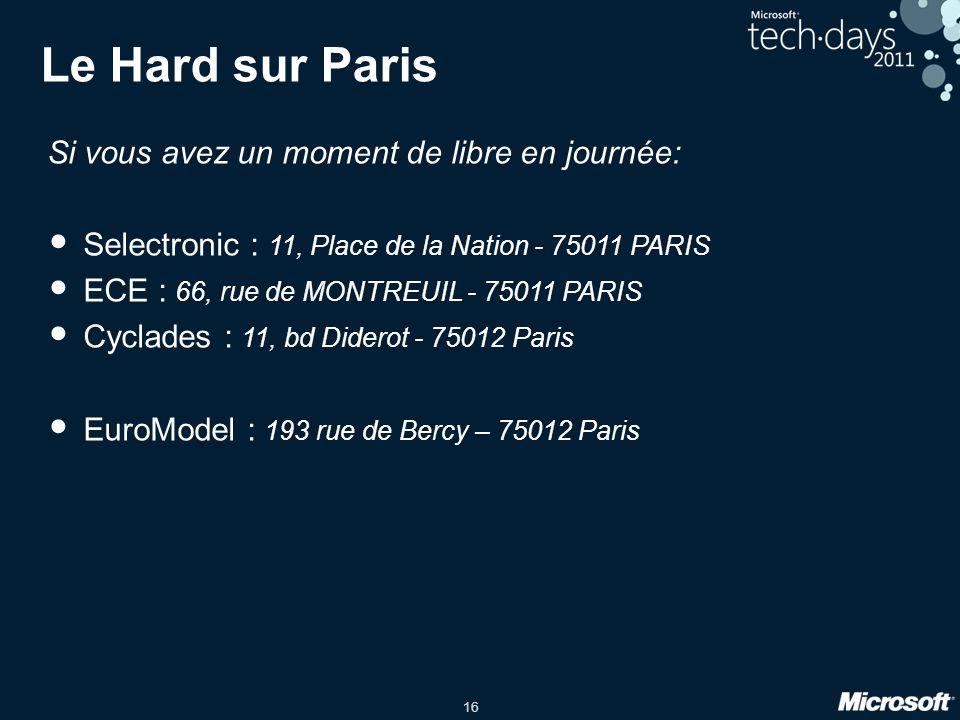 Le Hard sur Paris Si vous avez un moment de libre en journée: