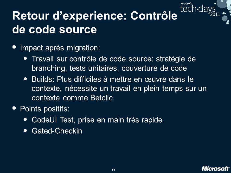 Retour d'experience: Contrôle de code source