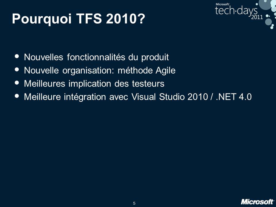 Pourquoi TFS 2010 Nouvelles fonctionnalités du produit
