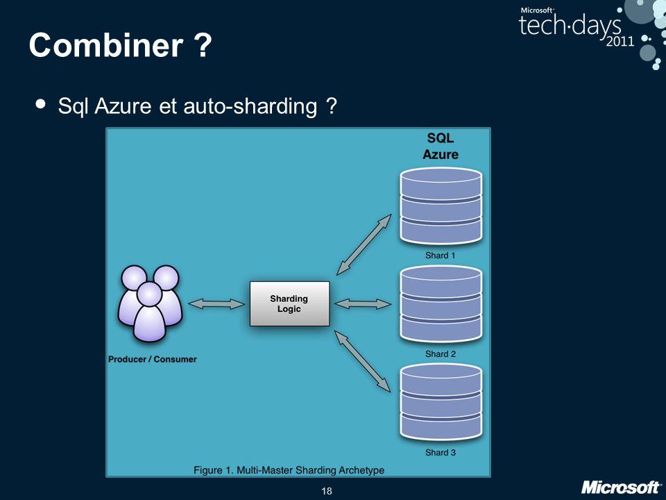 Combiner Sql Azure et auto-sharding