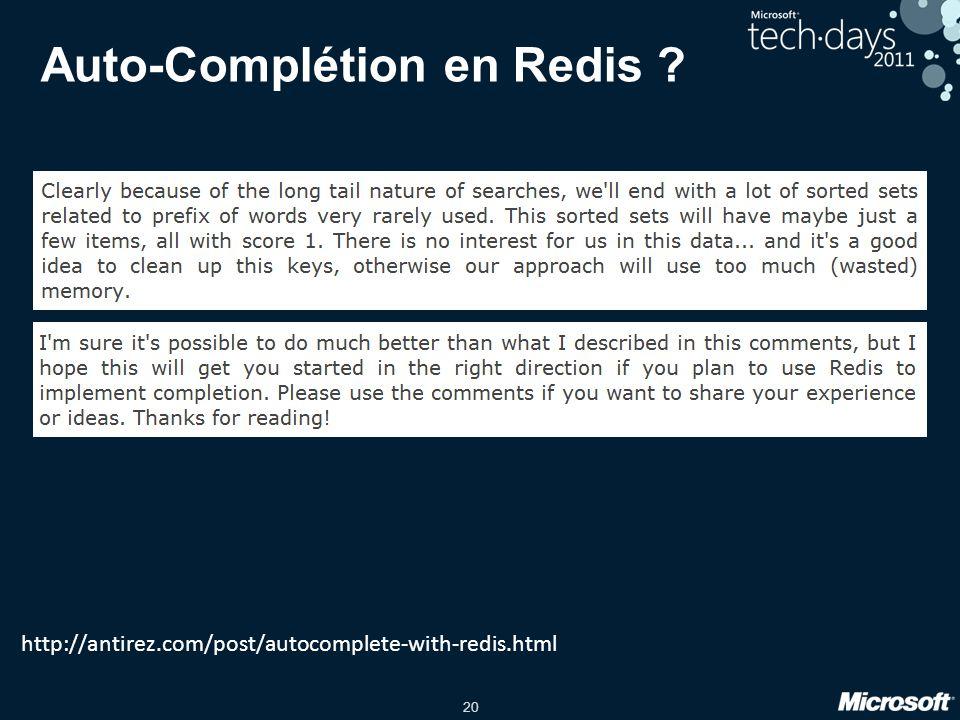 Auto-Complétion en Redis