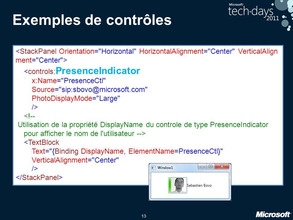 Exemples de contrôles