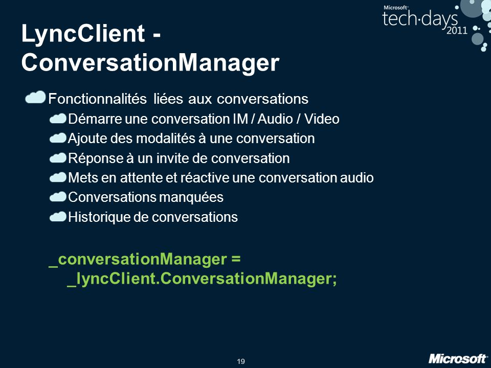LyncClient - ConversationManager