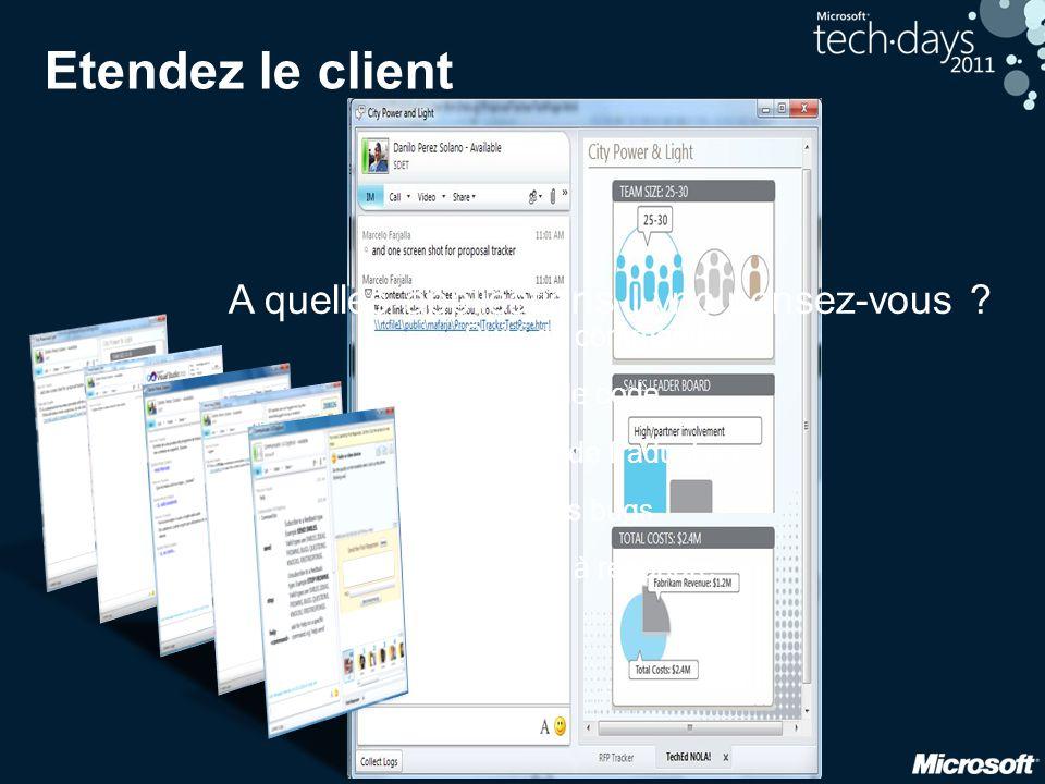 Etendez le client A quelles applications Lync pensez-vous
