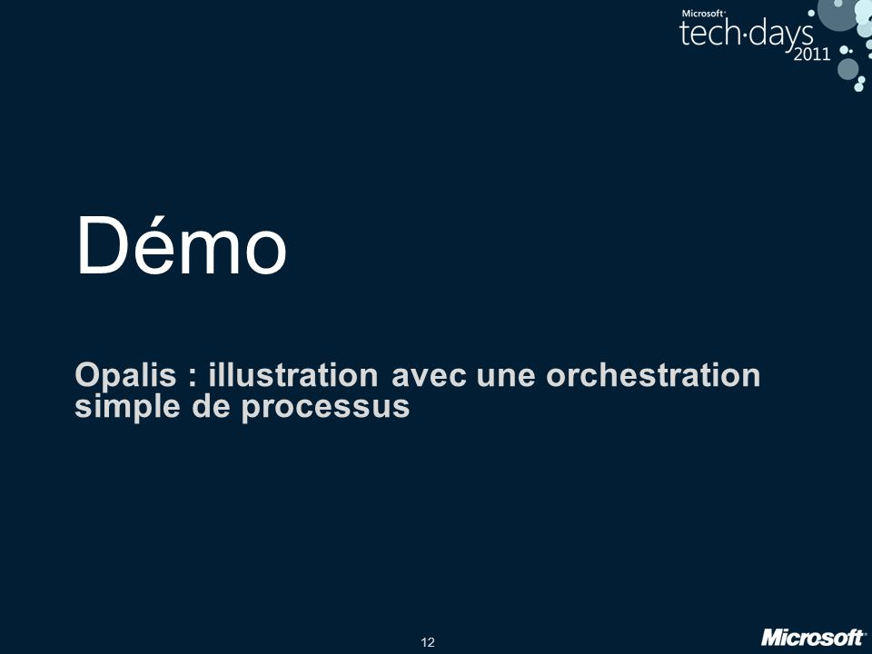 Opalis : illustration avec une orchestration simple de processus