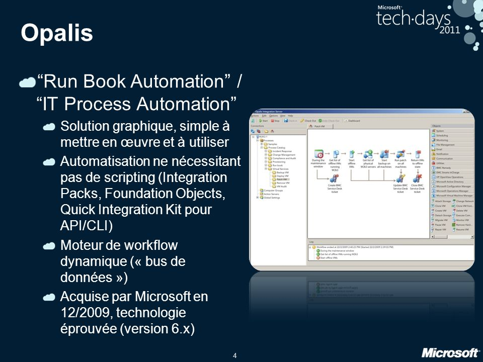 Opalis Run Book Automation / IT Process Automation