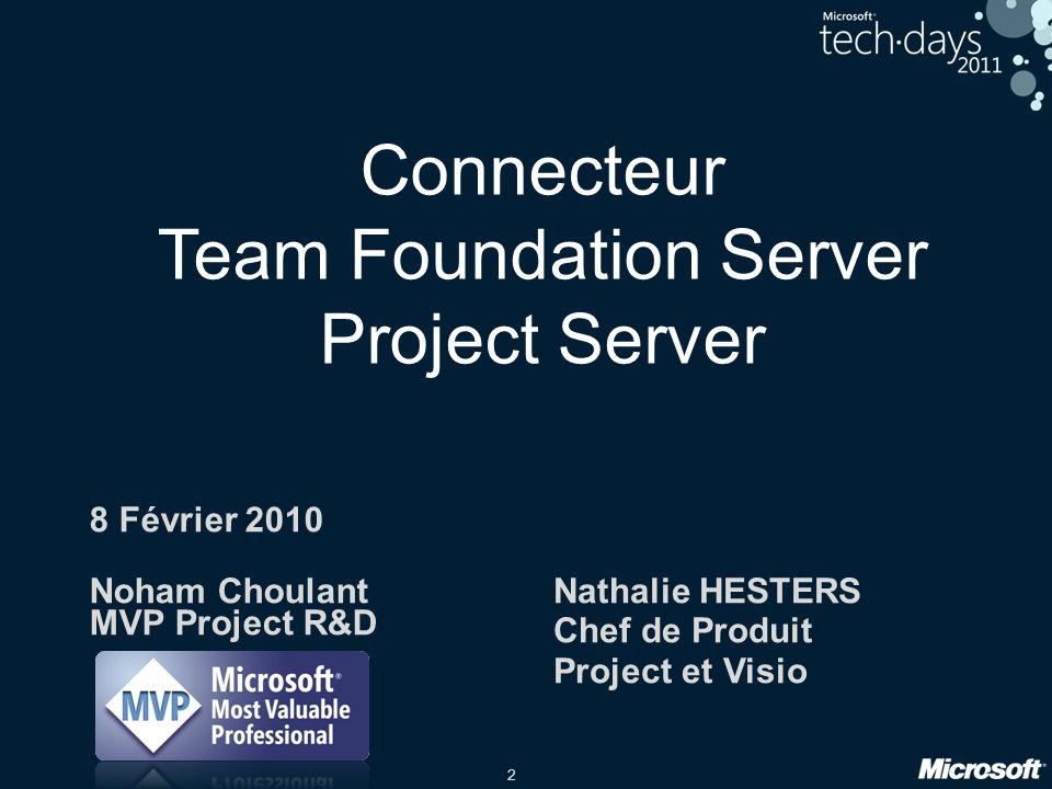 Connecteur Team Foundation Server Project Server