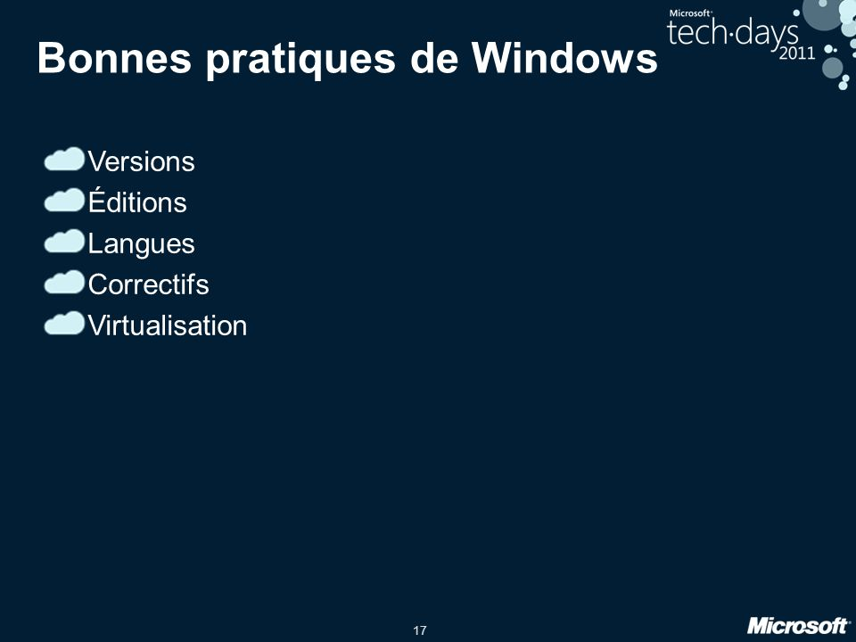 Bonnes pratiques de Windows