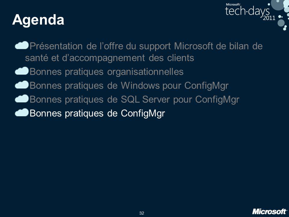 3/31/2017 9:52 PM Agenda. Présentation de l'offre du support Microsoft de bilan de santé et d'accompagnement des clients.