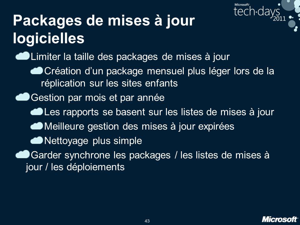 Packages de mises à jour logicielles