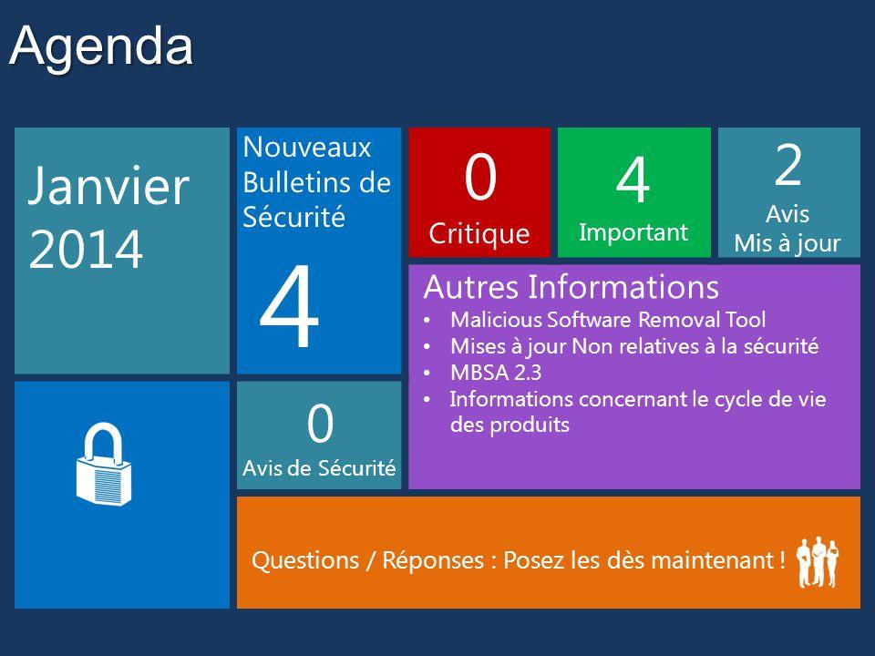 4 2 Agenda Janvier 2014 Autres Informations