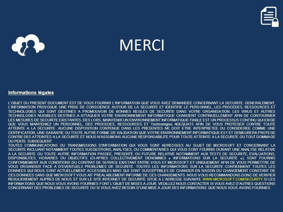 MERCI Informations légales