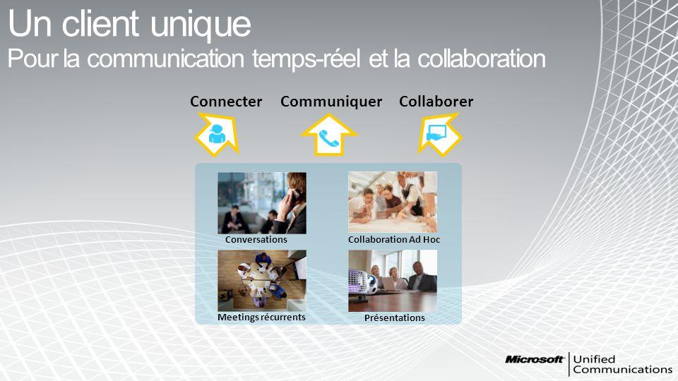 Un client unique Pour la communication temps-réel et la collaboration