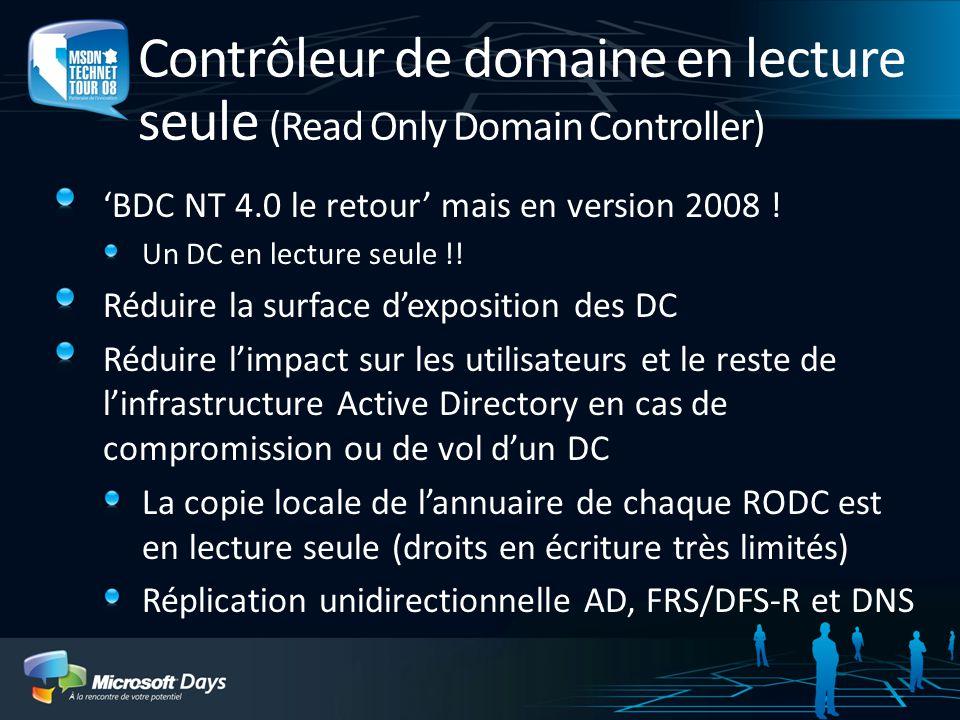 Contrôleur de domaine en lecture seule (Read Only Domain Controller)