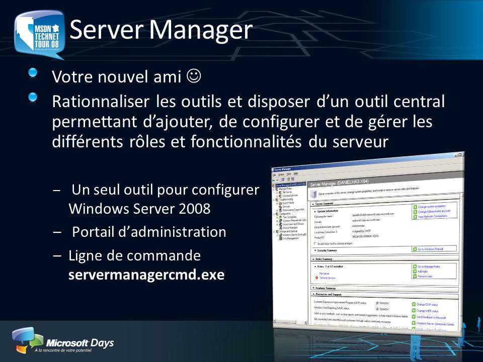 Server Manager Votre nouvel ami 