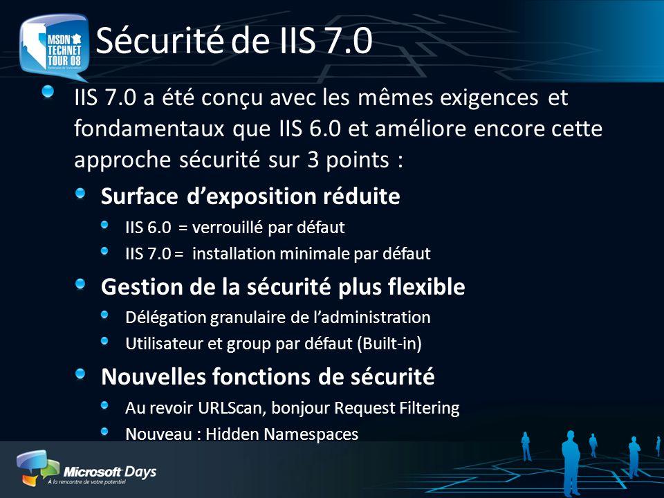 Sécurité de IIS 7.0
