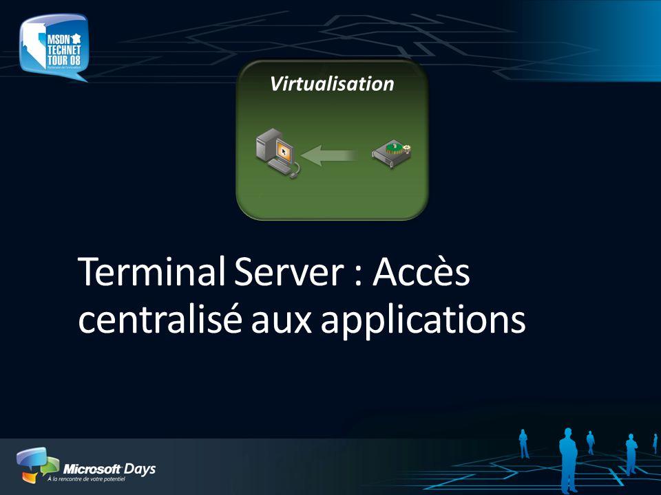 Terminal Server : Accès centralisé aux applications
