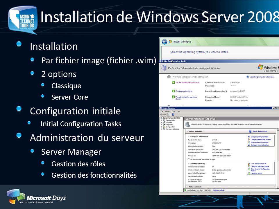 Installation de Windows Server 2008