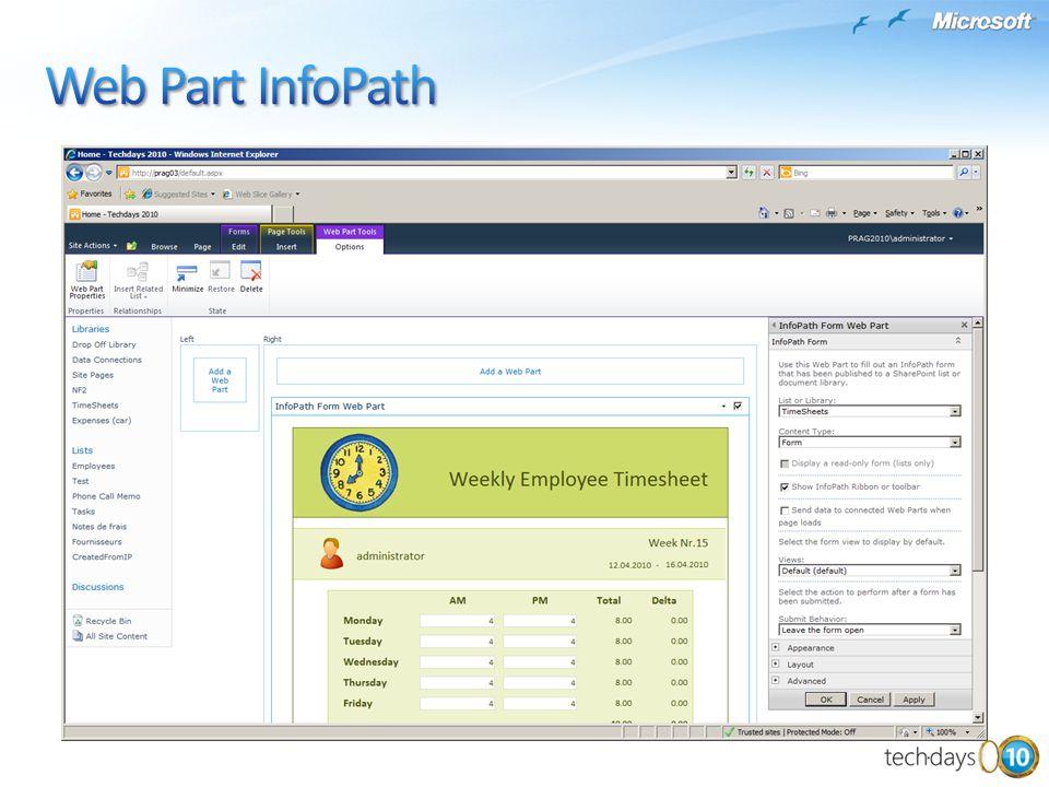 Web Part InfoPath