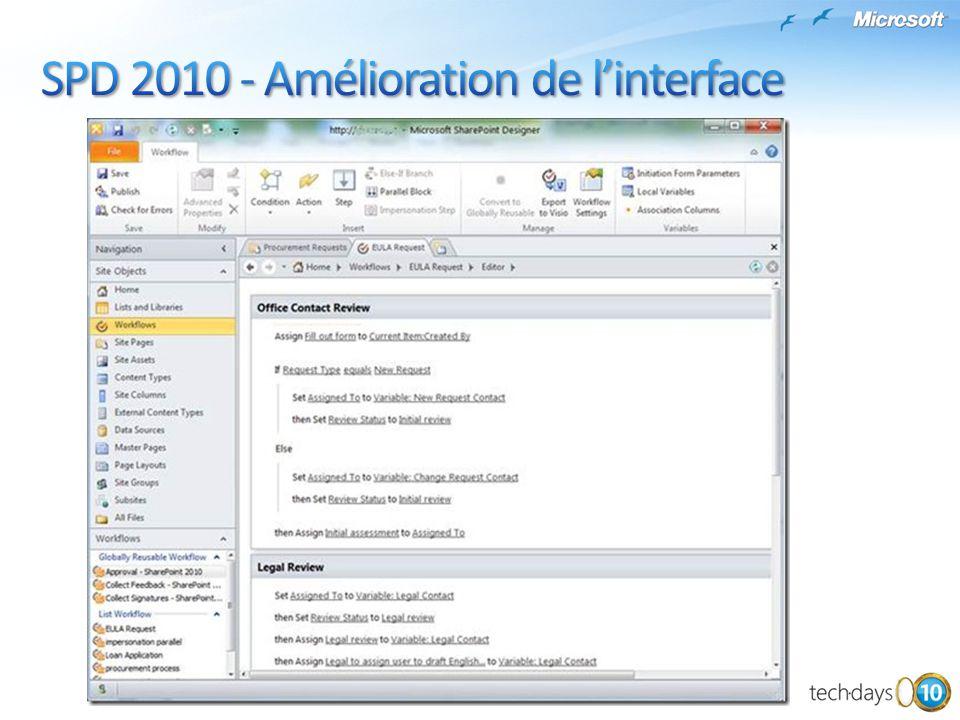 SPD 2010 - Amélioration de l'interface