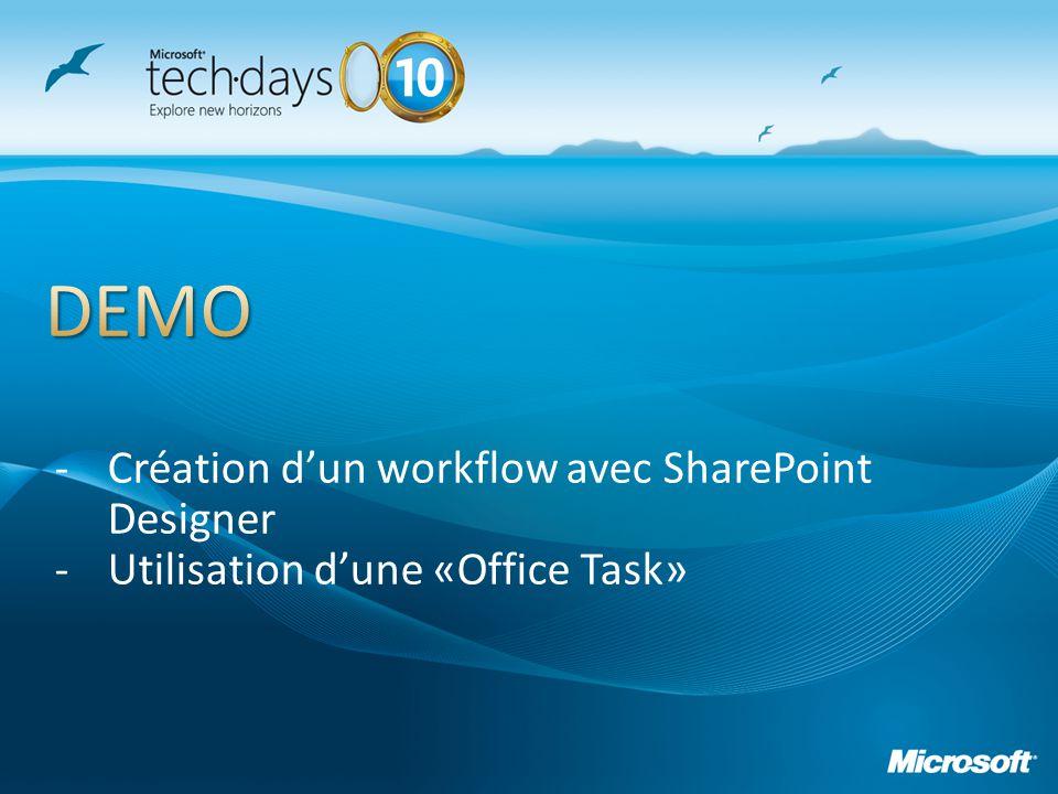DEMO Création d'un workflow avec SharePoint Designer