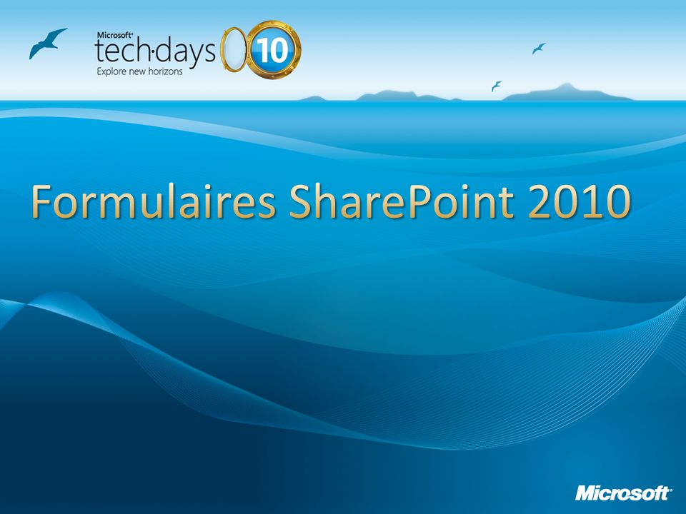 Formulaires SharePoint 2010