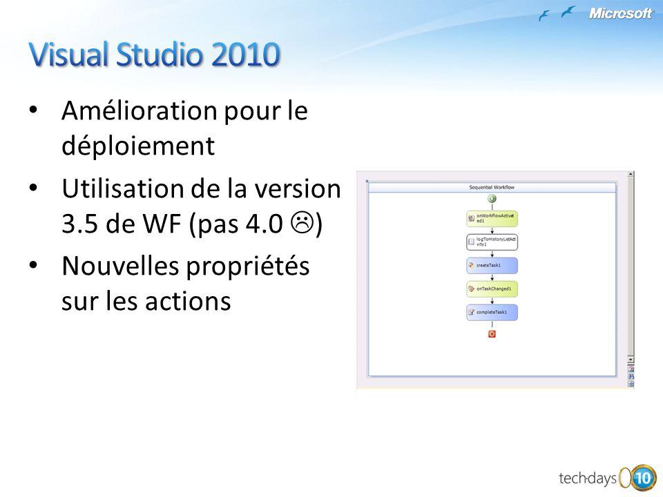 Visual Studio 2010 Amélioration pour le déploiement