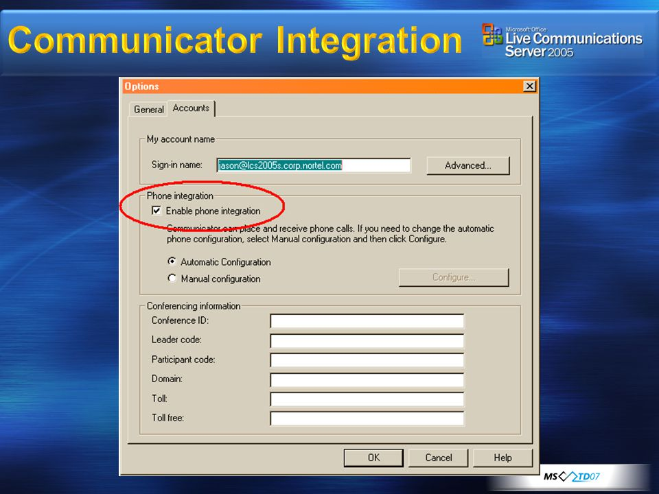 Communicator Integration