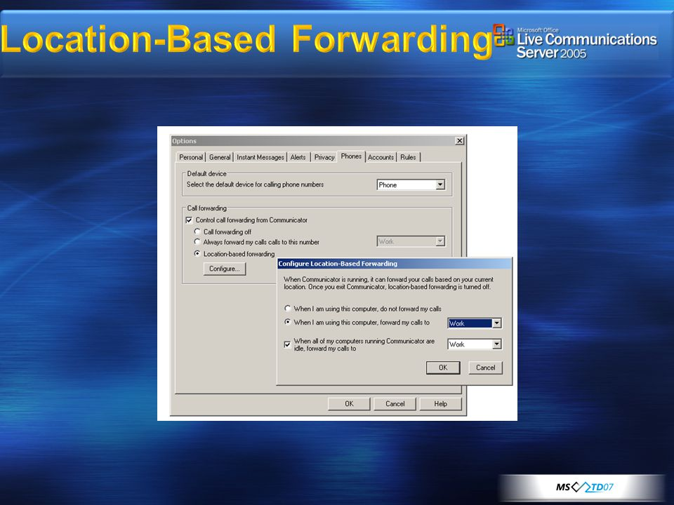 Location-Based Forwarding
