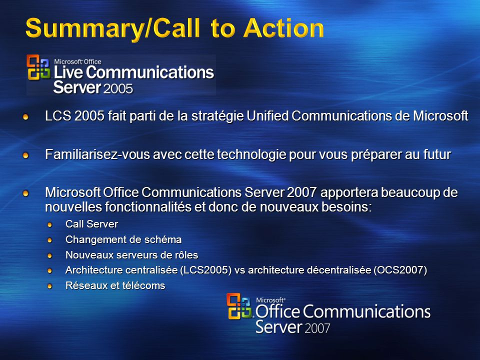 Summary/Call to Action