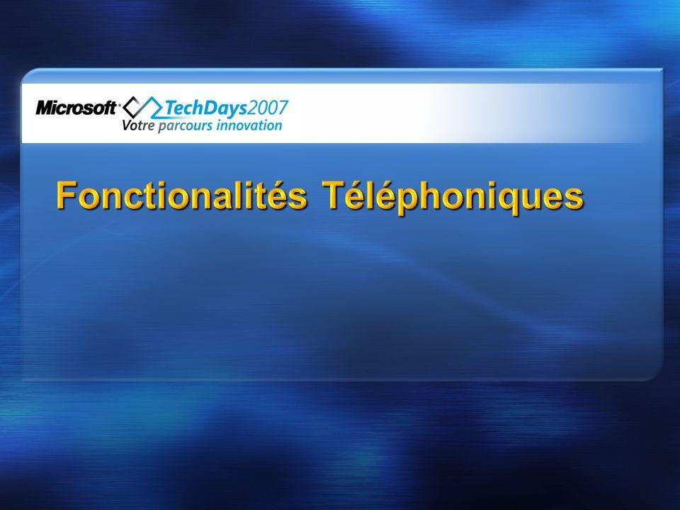 Fonctionalités Téléphoniques