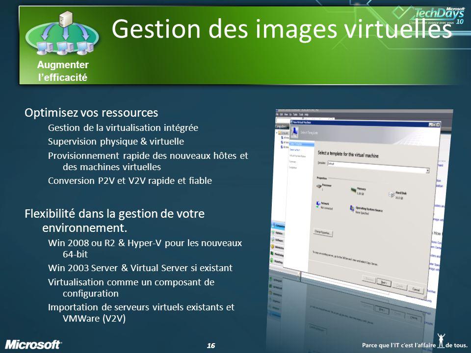 Gestion des images virtuelles