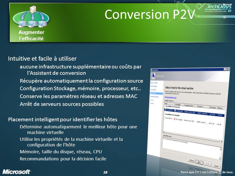 Conversion P2V Intuitive et facile à utiliser
