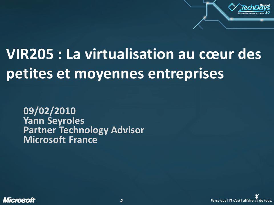 VIR205 : La virtualisation au cœur des petites et moyennes entreprises