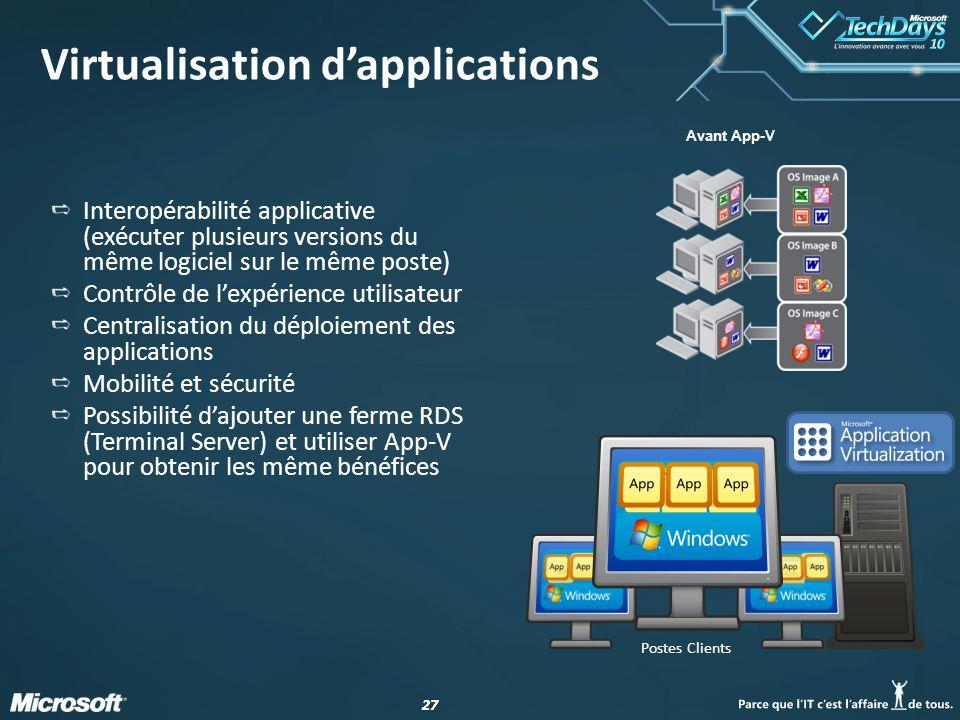 Virtualisation d'applications