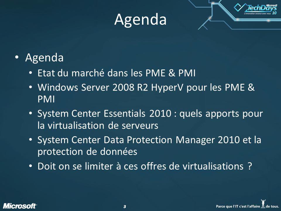 Agenda Agenda Etat du marché dans les PME & PMI