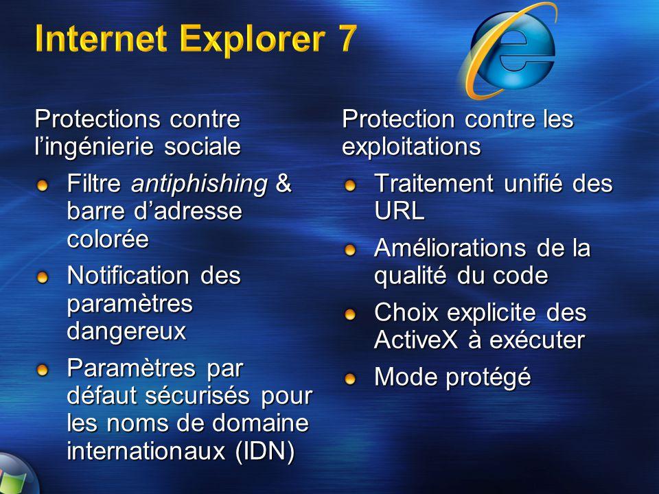 Internet Explorer 7 Protections contre l'ingénierie sociale