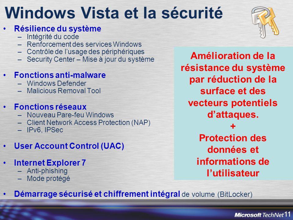 Windows Vista et la sécurité
