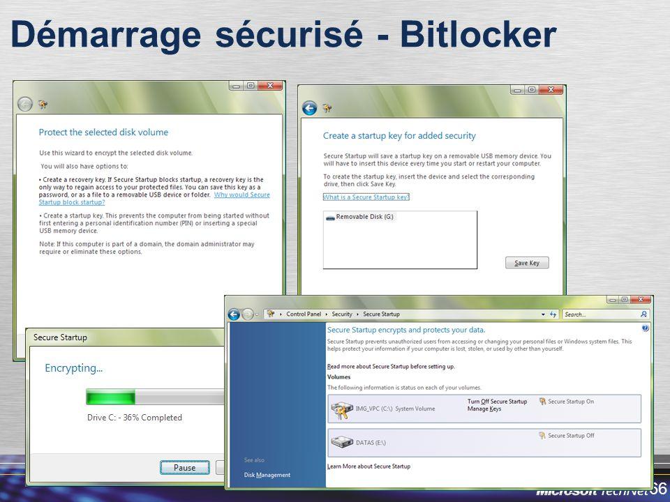 Démarrage sécurisé - Bitlocker