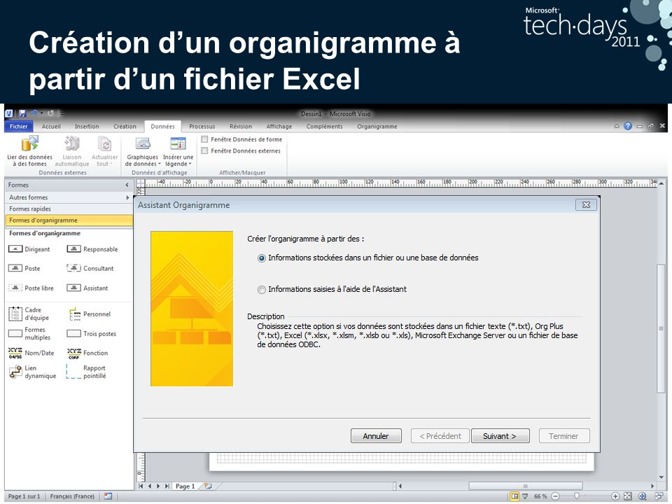Création d'un organigramme à partir d'un fichier Excel