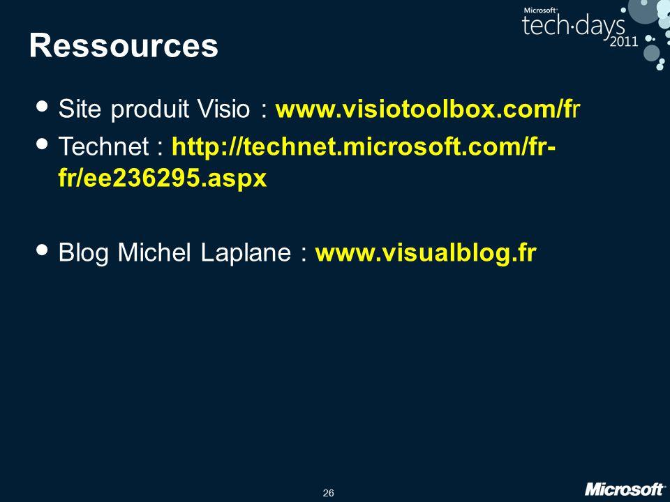 Ressources Site produit Visio : www.visiotoolbox.com/fr