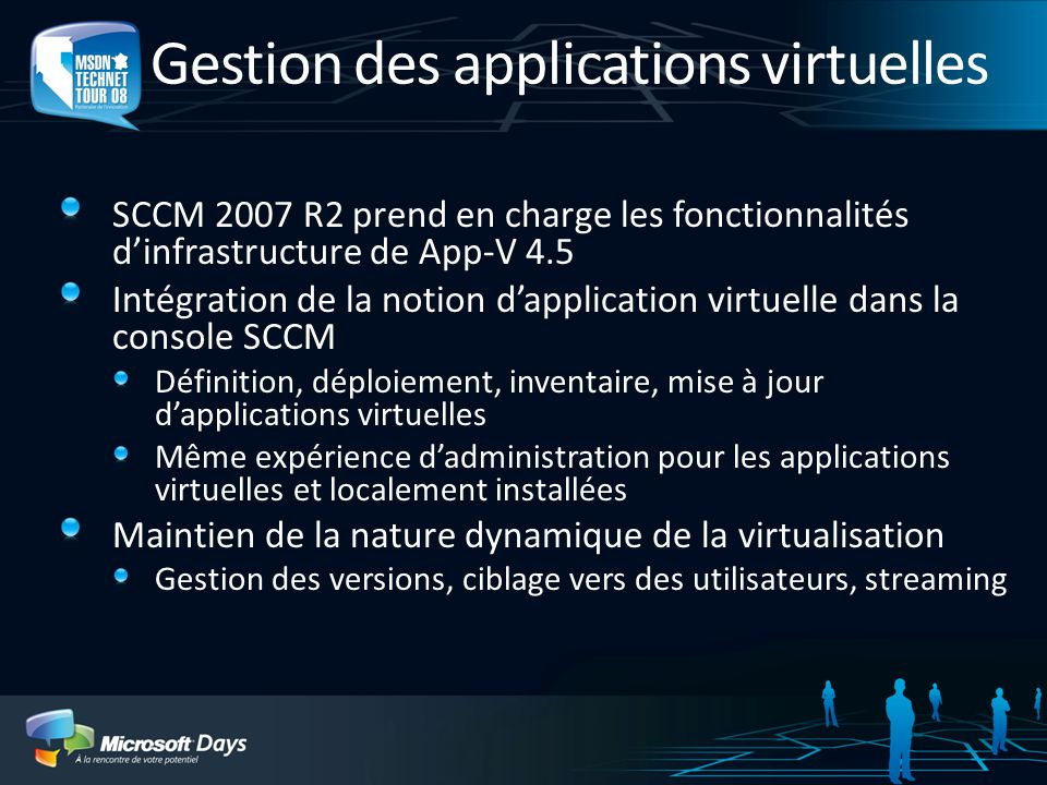 Gestion des applications virtuelles