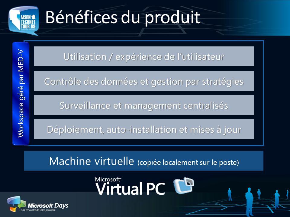 Bénéfices du produit Déploiement, auto-installation et mises à jour. Surveillance et management centralisés.