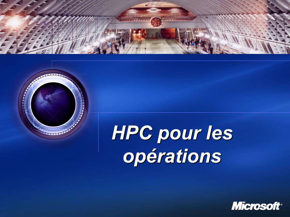 HPC pour les opérations